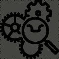 Dynamant kugghjul ikon